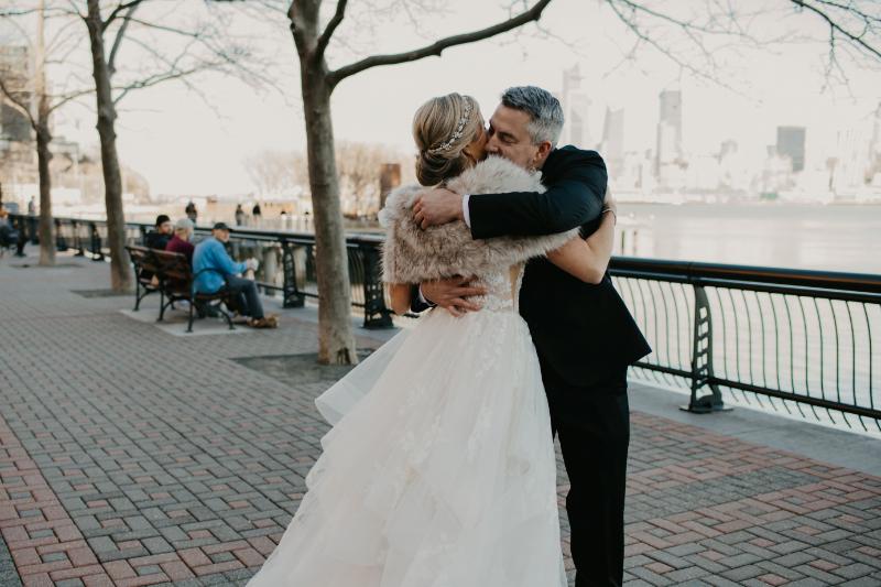 First look wedding photos in Hoboken New Jersey