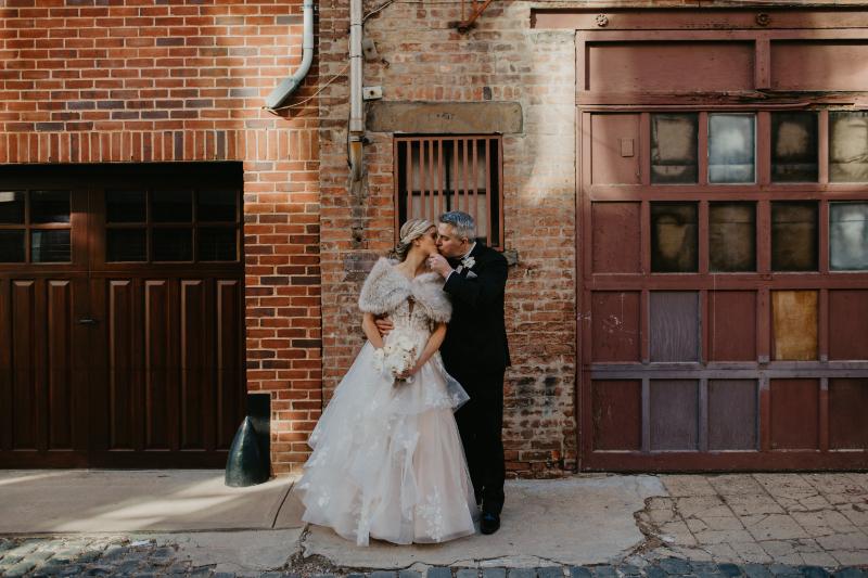 Court Street Hoboken Bride and Groom Wedding Photos
