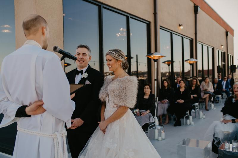 Antique Loft Hoboken Wedding Ceremony