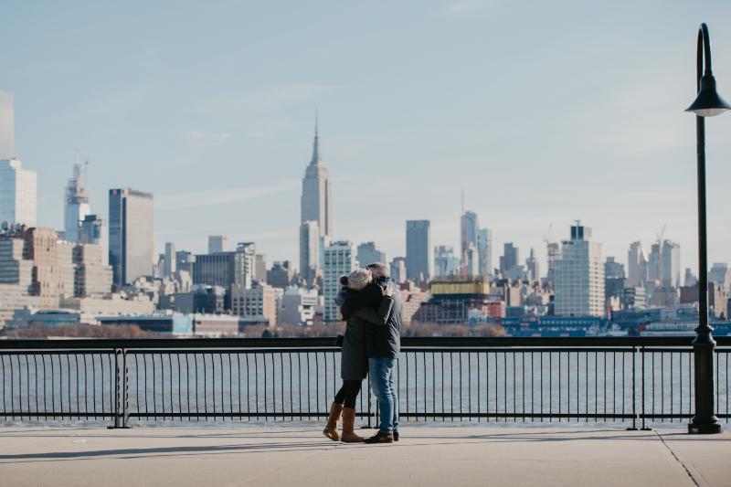 Hoboken Proposal next to waterfront