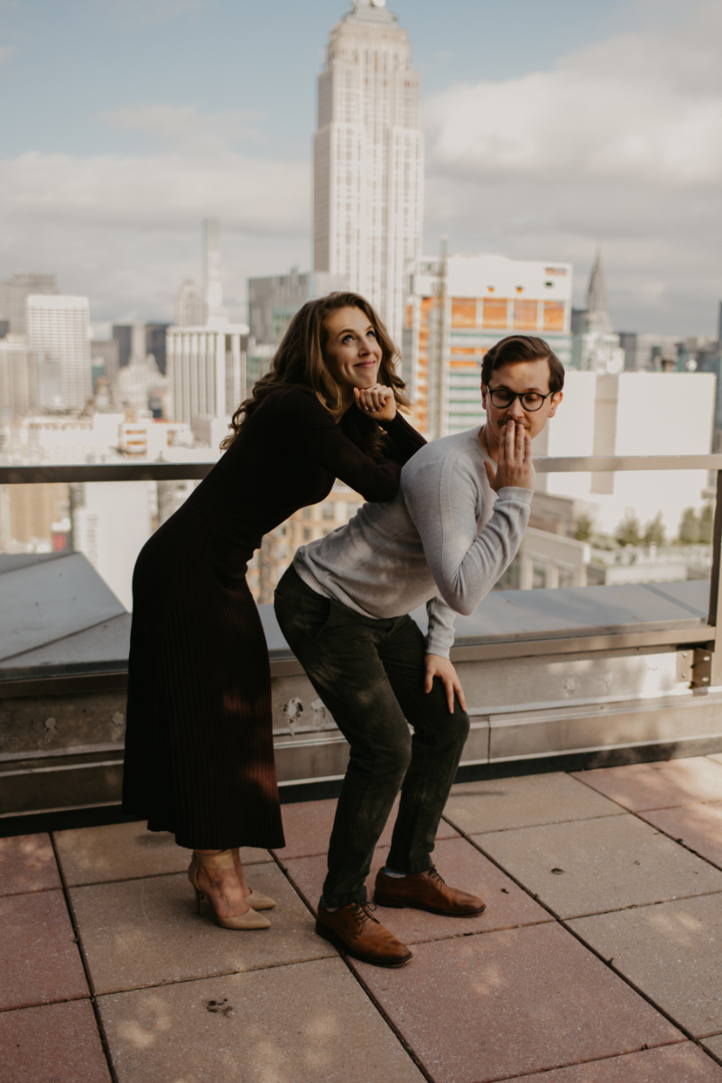 funny engagement pose ideas