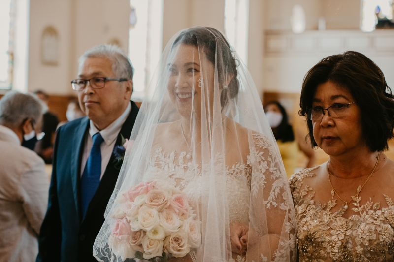 aisle reveal wedding ceremony