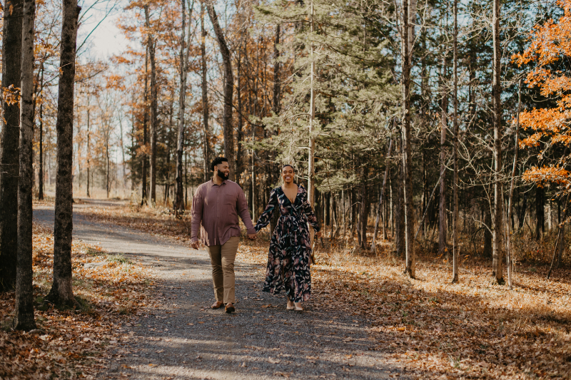 fall engagement photos in New Jersey
