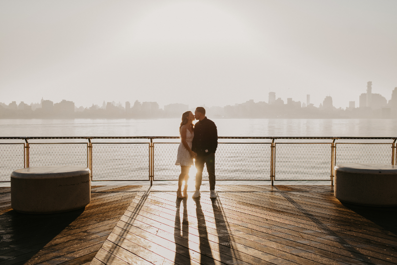 New Jersey engagement photos at sunrise