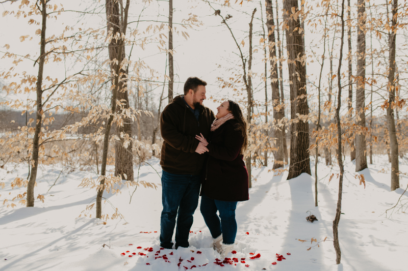 winter engagement photos in New Jersey