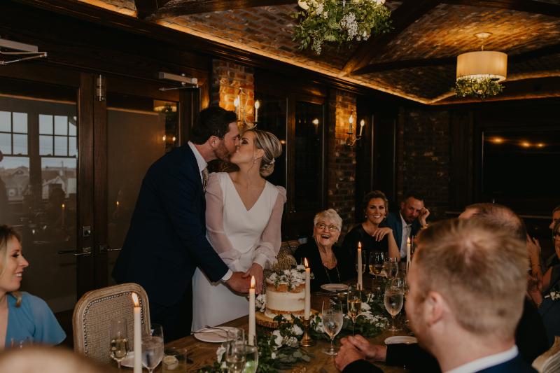 Charlie's of Bay Head Wedding Reception in Wine Room