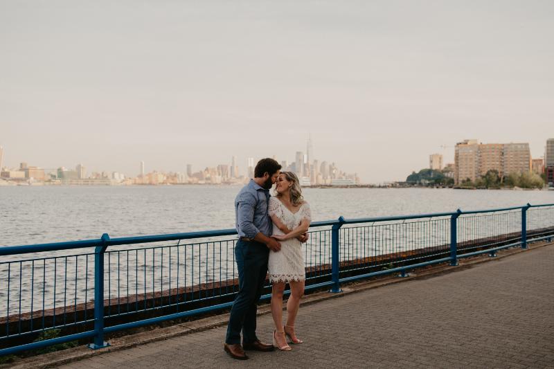 NJ Engagement Photos at waterfront