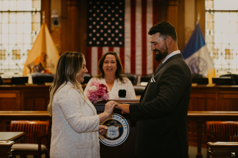 Jersey City Indoor Wedding Ceremony at City Hall