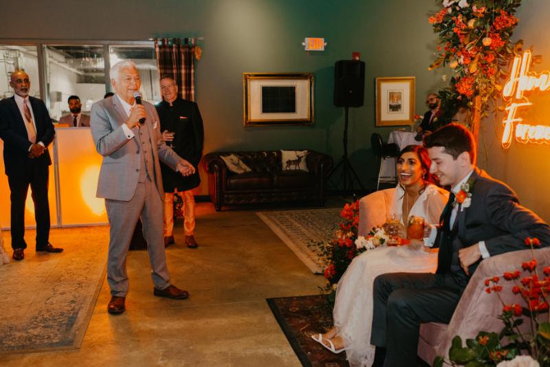 wedding toasts at New Jersey wedding reception