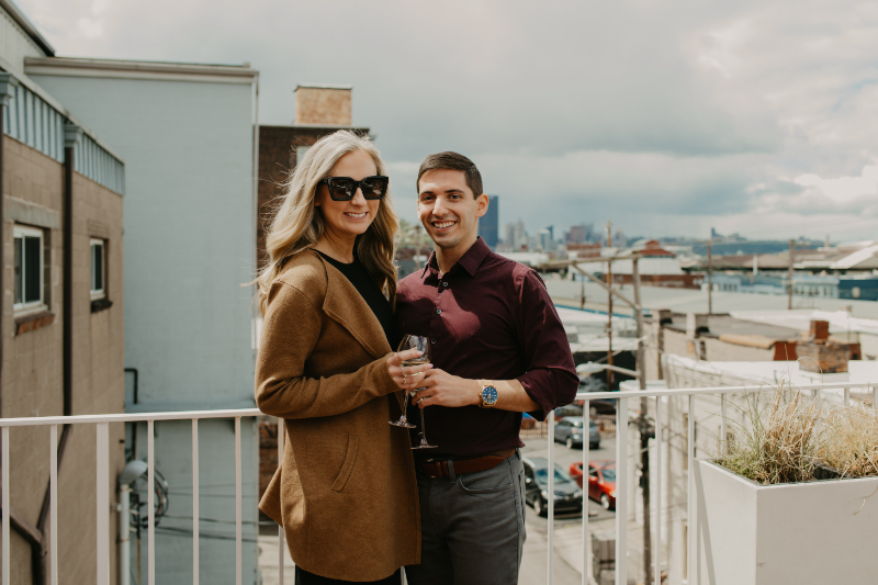 Outdoor engagement photos in Pittsburgh