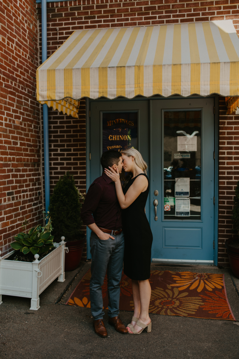 formal engagement photos outdoors in Pittsburgh