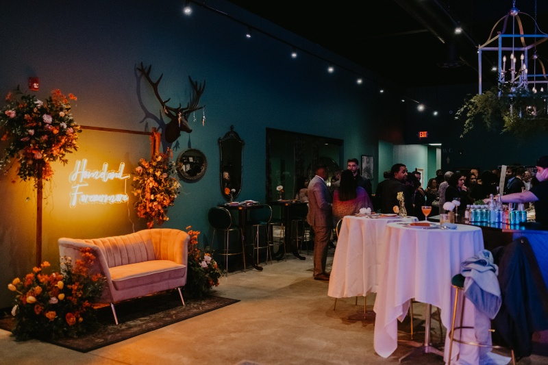 Corgi Spirits wedding reception in Jersey City