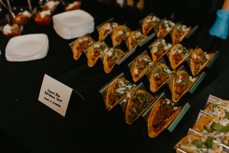 individual appetizers for covid friendly reception ideas