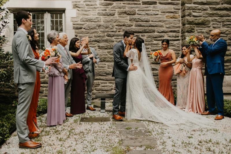 outdoor wedding ceremony at New Jersey garden venue