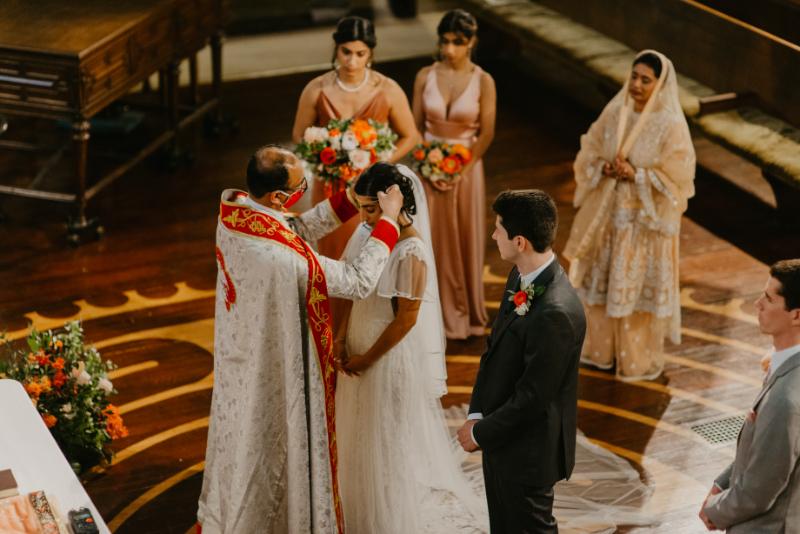 wedding ceremony in Jersey City church