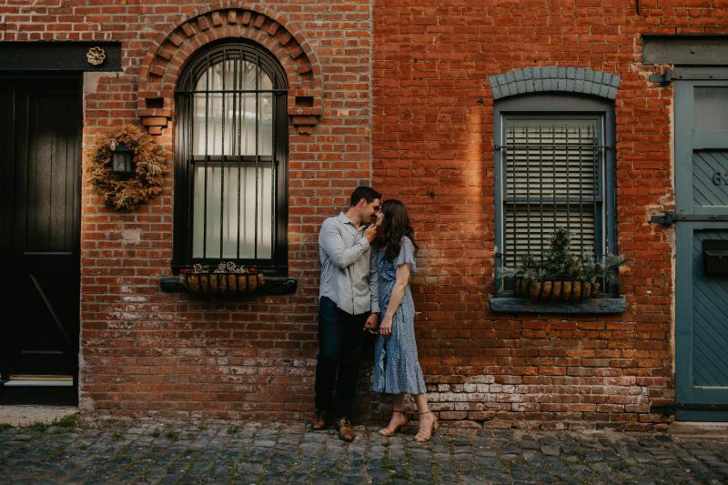 engagement photos on court street