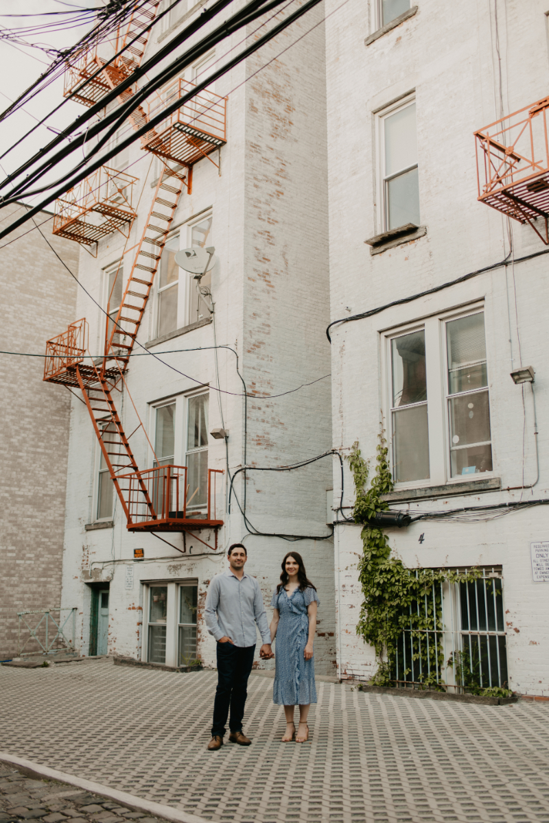 City engagement photos in New Jersey