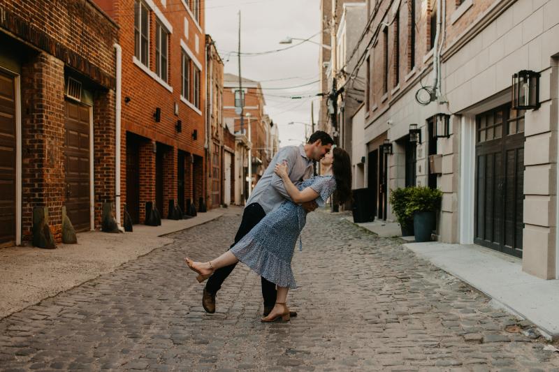 Court Street Hoboken Engagement Photos