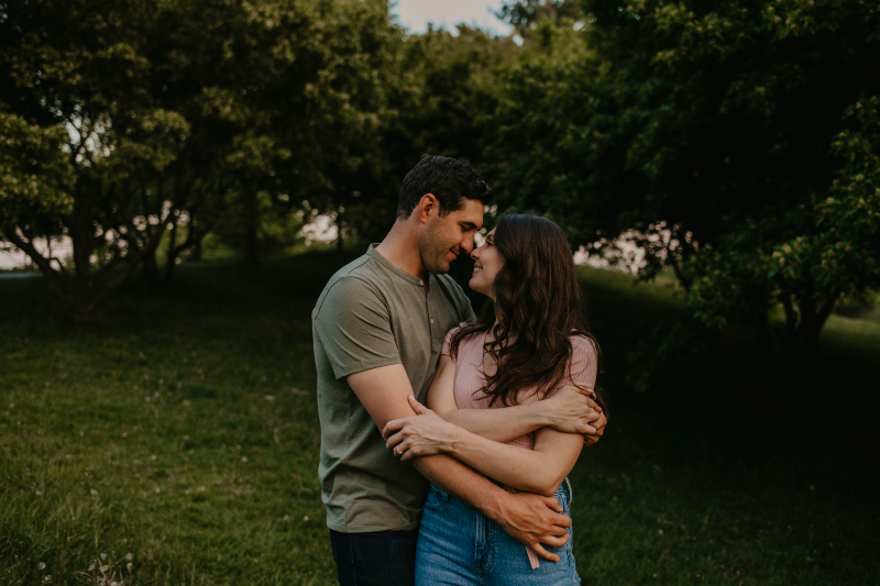 Outdoor Engagement Photos in Jersey City
