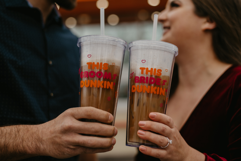 DUNKIN DONUTS BRIDE AND GROOM