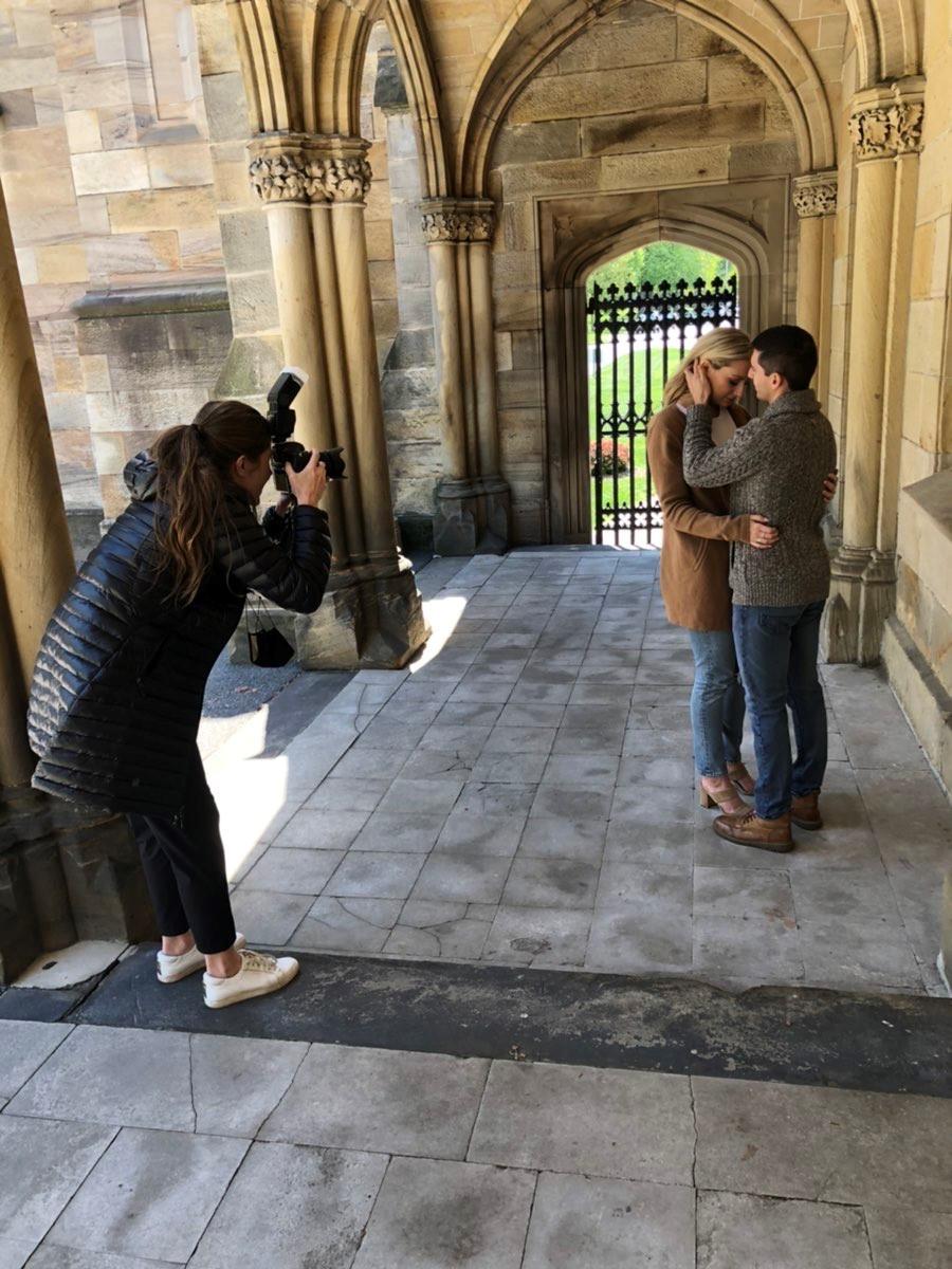 behind the scenes outdoor wedding photographer