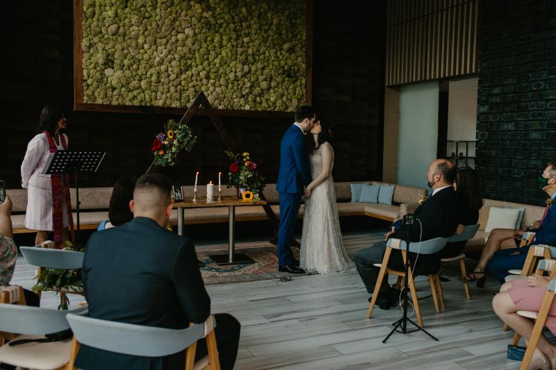 Halifax Hoboken wedding ceremony setup