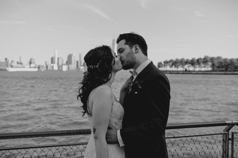 Waterfront Hoboken wedding photos