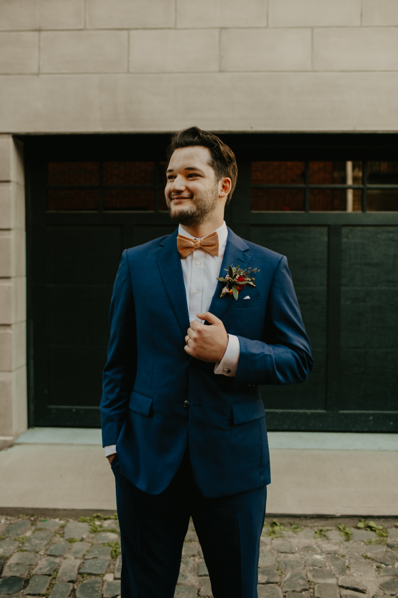 Solo Shot of New Jersey Groom