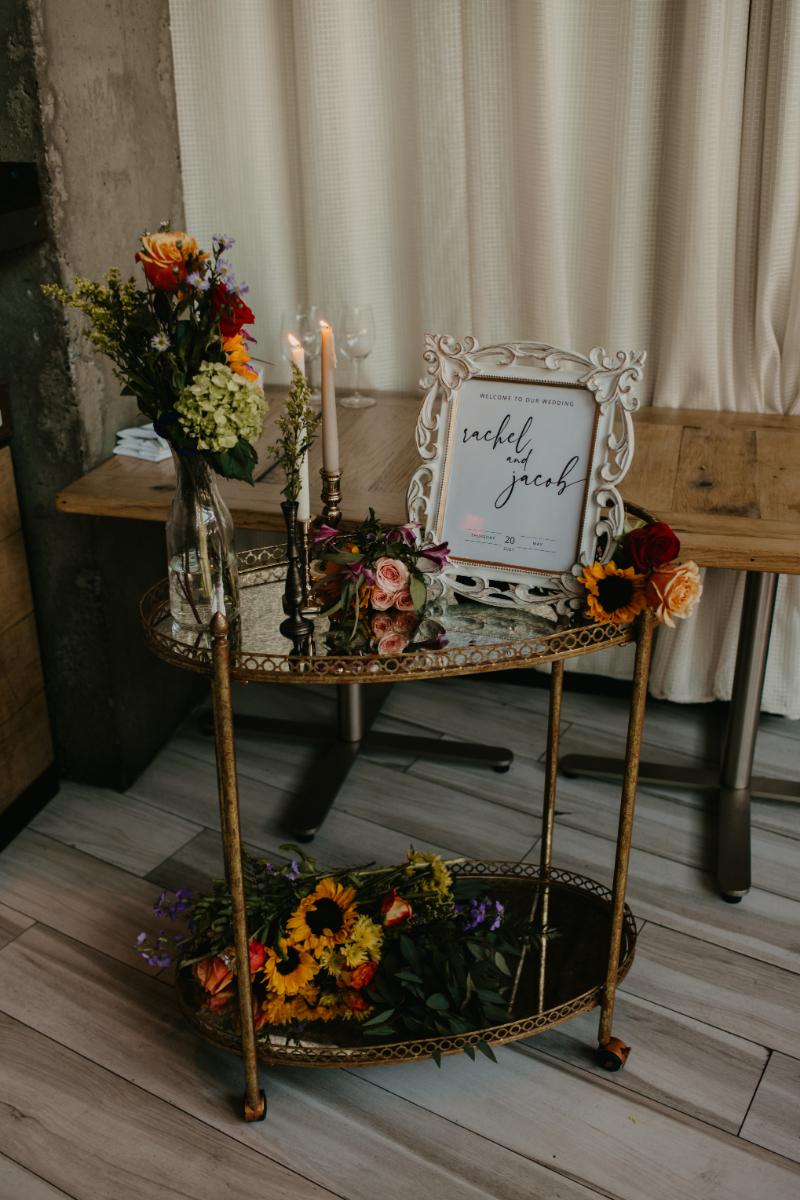 Halifax Hoboken DIY wedding decor for the wedding reception