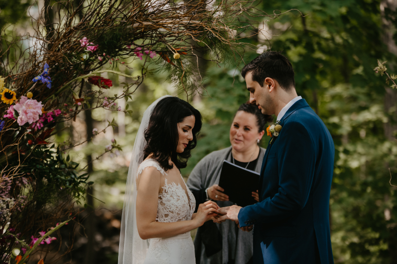 Ring warming wedding ceremony in New Jersey
