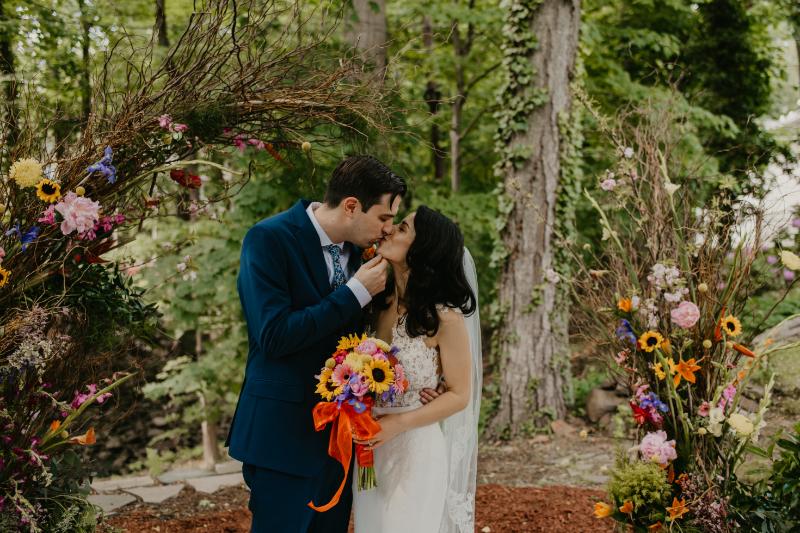 Bride and Groom Wedding Photos Outdoors