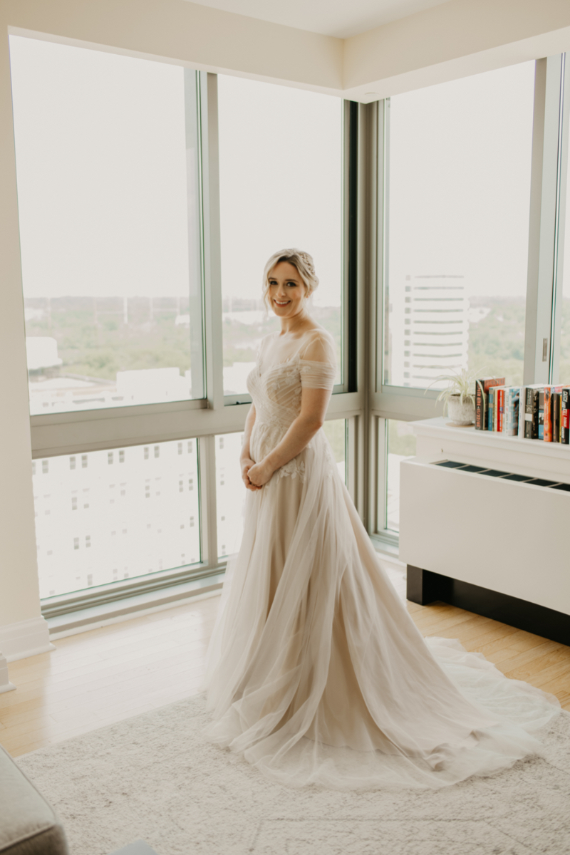 Solo bridal portrait