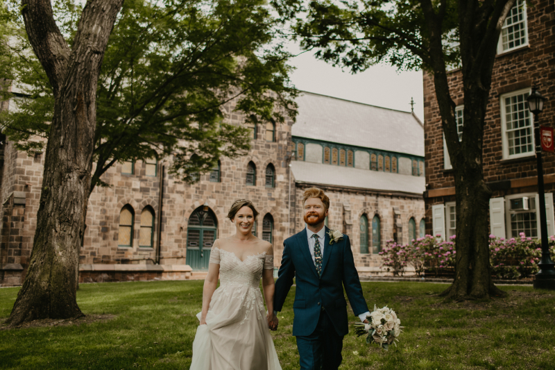 Outdoor Bride and Groom Photos with a European Style