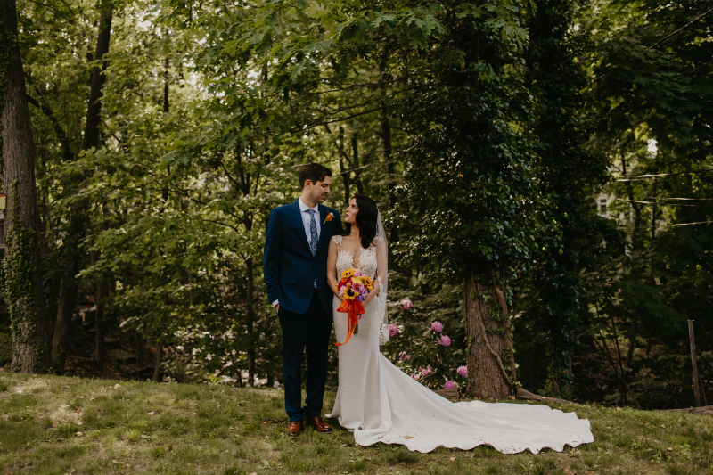 Colorful wedding photos in New Jersey
