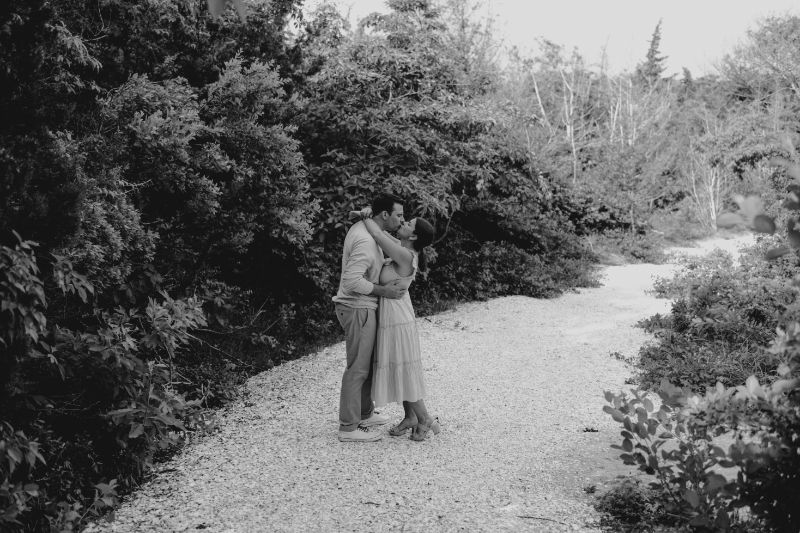 Intimate black and white photos for a couples Engagement Photoshoot in Long Beach Island.