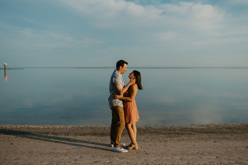 Couples Beach Engagement Photoshoot on Long Island Beach.