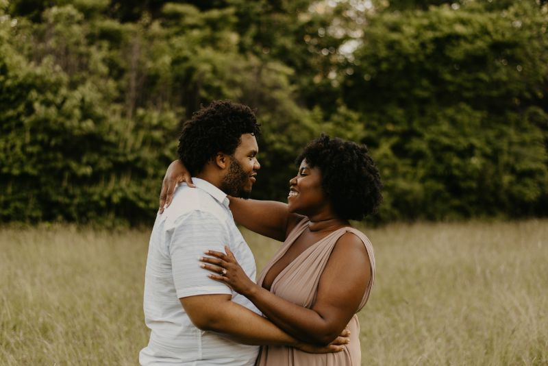 Naturally inspired Green and Lush Cross Estate Gardens Engagement Photo.