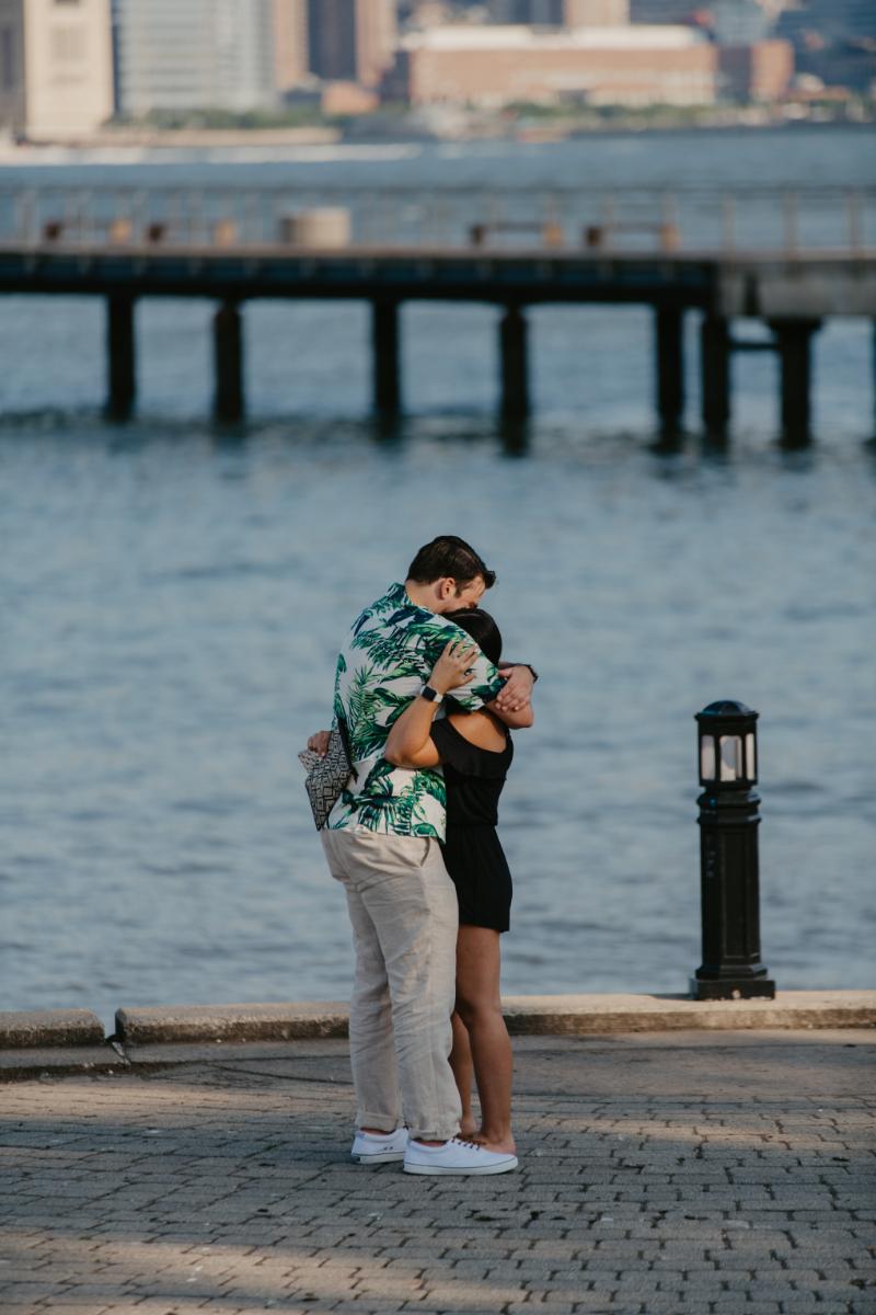 NJ Engagement Photographer capturing proposal
