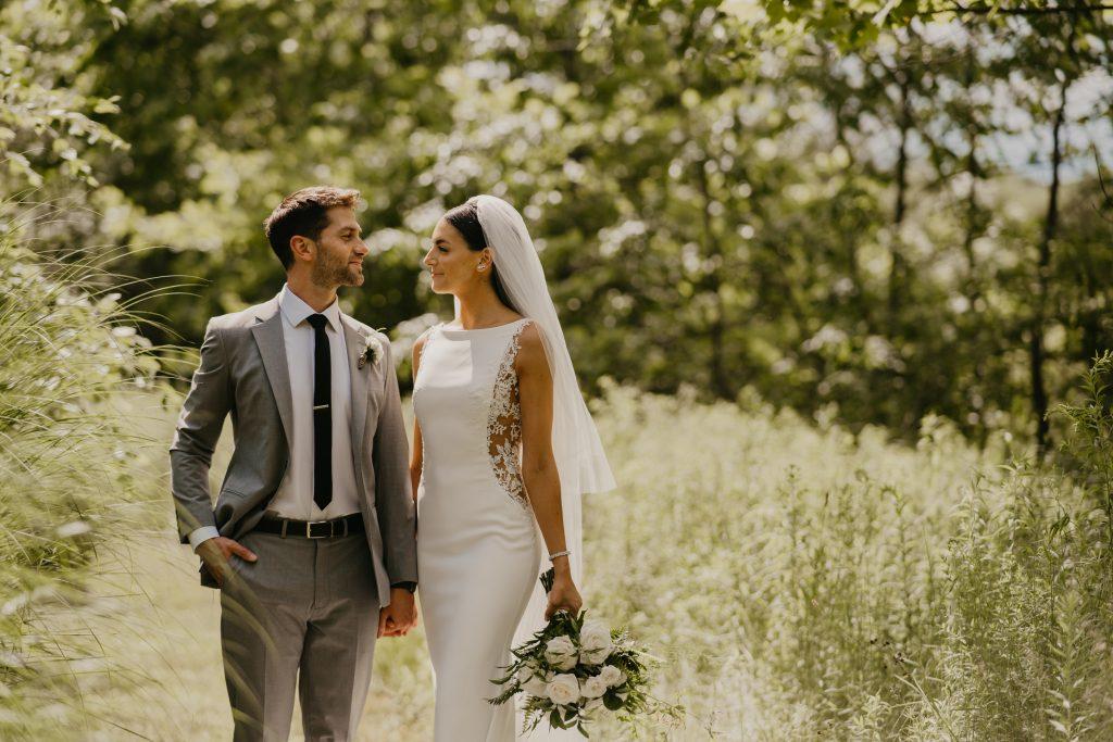 Bride and groom photos at Crossed Keys Estate